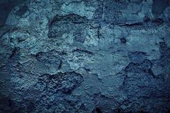 De blauwe muur van Grunge Stock Afbeelding