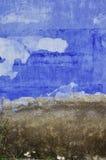 De blauwe muur van het grungecement Stock Foto's