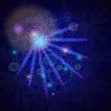 De blauwe nachtgloed van de sterren Stock Afbeelding