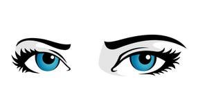 De blauwe ogen van de vrouw Royalty-vrije Stock Foto