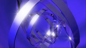 De blauwe omwenteling van het ringenmetaal stock footage