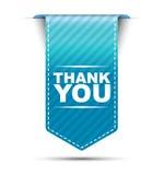 De blauwe ontwerpbanner dankt u Royalty-vrije Stock Foto's