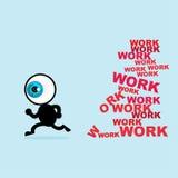 De blauwe oogvlucht voor velen werkt royalty-vrije illustratie