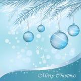De blauwe ornamenten van Kerstmis stock illustratie