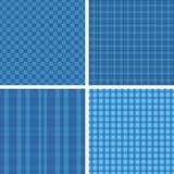 De blauwe patronen van de plaid Royalty-vrije Stock Foto's
