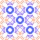 De blauwe perzik kleurde doorzichtig dwars naadloos patroon Stock Foto