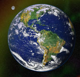 De blauwe planeet van de aarde in ruimte vector illustratie