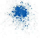 De Blauwe plonsen van de waterverf Stock Foto