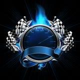 De blauwe Rassen van het Embleem Royalty-vrije Stock Foto