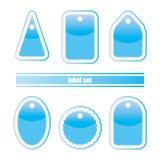 De blauwe Reeks van het Etiket Stock Afbeeldingen