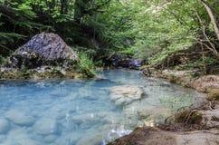 De blauwe rivier Stock Afbeeldingen