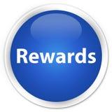 De blauwe ronde knoop van de beloningenpremie Royalty-vrije Stock Fotografie