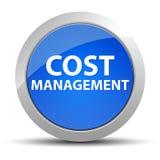 De blauwe ronde knoop van het kostenbeheer stock illustratie