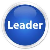 De blauwe ronde knoop van de leiderspremie Royalty-vrije Stock Foto