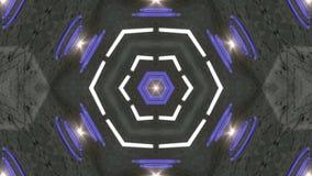 De blauwe roterende abstracte achtergrond verandert van vorm vector illustratie