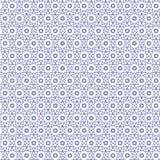 De blauwe Samenvatting trekt van het het Netpatroon van het Sterrenornament Vectorillustratie Als achtergrond Stock Afbeeldingen
