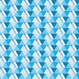 De blauwe schaduwdriehoek overlapte horizontaal gestreept patroon backgr Stock Foto's
