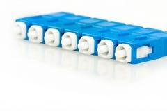 De blauwe schakelaar van vezel optische Sc royalty-vrije stock foto's