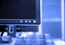 De blauwe schermen Stock Foto