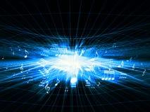 De blauwe Schokgolf van de Muziek Stock Afbeelding