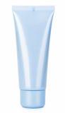 De blauwe schoonheidsmiddelen romen buis af Stock Afbeelding