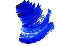 De blauwe slagen van de verfborstel Royalty-vrije Stock Foto's