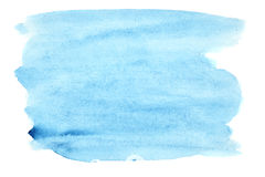De blauwe slagen van de waterverfborstel Royalty-vrije Stock Foto's