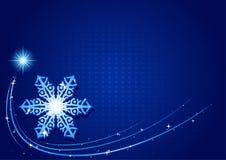 De blauwe Sneeuwvlok van Kerstmis Stock Foto's