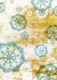 De blauwe sneeuwvlokken van Grunge op bruin stock illustratie
