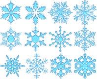 De blauwe Sneeuwvlokken van het Glas vector illustratie