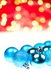 De blauwe snuisterijen van Kerstmis Royalty-vrije Stock Fotografie