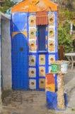 De Blauwe stad - Chefchaouen, Marokko Royalty-vrije Stock Afbeeldingen