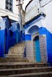 De blauwe stad van Chefchaouen Stock Fotografie