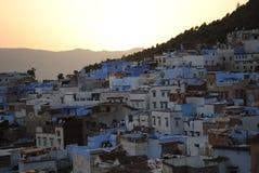 De blauwe stad van Chefchaouen Stock Foto's