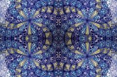 De blauwe tegel van het mozaïek Stock Afbeelding