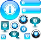 De blauwe tekens van info. royalty-vrije illustratie
