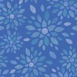 De blauwe textielpioen bloeit naadloos patroon Royalty-vrije Stock Foto