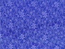 De blauwe textieltextuur van de kantstof Royalty-vrije Stock Foto