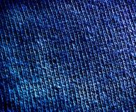 De blauwe Textuur van de Stof Stock Foto