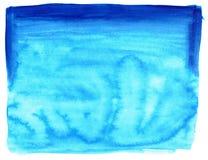 De blauwe textuur van de waterkleur Stock Afbeelding