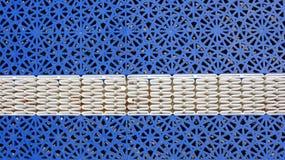 De blauwe textuur van het basketbalhof stock afbeeldingen