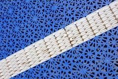 De blauwe textuur van het basketbalhof royalty-vrije stock afbeelding