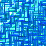 De blauwe Textuur van het Glas Abstract Geometrisch patroon Creatief ontwerp als achtergrond Retro stijlillustratie Digitaal Art  Stock Afbeelding