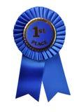 De blauwe Toekenning van het Lint (met het knippen van weg) Royalty-vrije Stock Fotografie