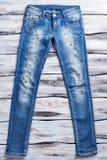 De blauwe toevallige jeans van de dame Royalty-vrije Stock Afbeelding