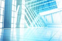 De blauwe Trendy Creatieve Abstracte Achtergrond van het Behang Stock Foto