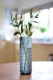 De blauwe Vaas van het Glas Stock Fotografie