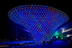 DE BLAUWE VALLEIEN VAN DE ZON IN 2010 SHANGHAI EXPO Royalty-vrije Stock Afbeelding