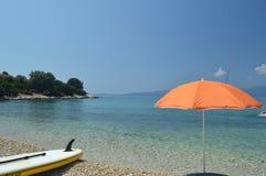 De blauwe van de overzeese vakantie strandzomer Royalty-vrije Stock Afbeeldingen