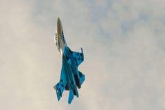De blauwe vechter in de hemel Stock Fotografie